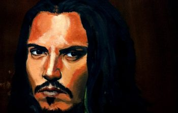 Tableau de Johnny Depp, dans son interprétation du Pirate des Caraïbes