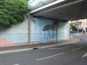 """Pont Alexandre III (actuellement) - Cannes - Mur """"descendant"""""""