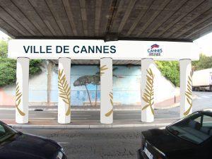 Maquette de la peinture murale - Ilot central Pont Alexandre III - Cannes