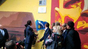 Inauguration : dévoilement de la plaque de la ville de Cannes