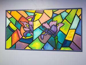Tableau-fresque des Iris