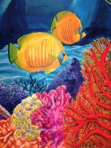 Détails poissons et coraux
